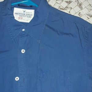 American Eagle Blue Shirt